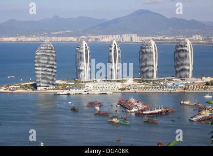 La ville de Sanya, sur l'île de Hainan, Guangdong, China, Asia Banque D'Images