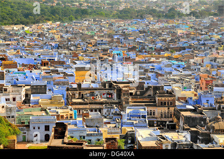 Le bleu des bâtiments de Bundi, Rajasthan, Inde, Asie