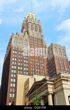 Baltimore, Maryland aux États-Unis. Célèbre quartier Art déco Banque du Nord Bâtiment datant de 1924. Banque D'Images