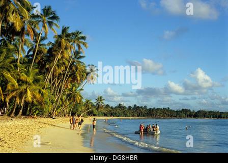 Plage de la Grande Anse des Salines, Sainte-Anne Ile de la Martinique Département et Région d'Outremer francais Banque D'Images