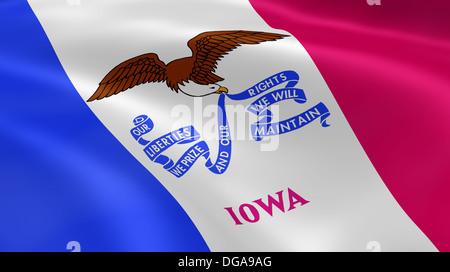 Geometric 706 drapeau dans le vent. Partie d'une série. Banque D'Images