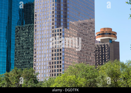 Centre-ville d'édifices de la ville Houston Texas USA Banque D'Images