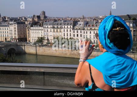 Paris France Europe 5ème arrondissement français Institut du Monde Arabe Institut du Monde Arabe de l'AWI toit-terrasse Banque D'Images