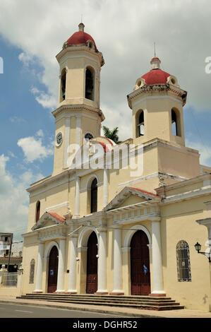 Catedral de la Purisima Concepcion Cathédrale, Parc Marti park, Cienfuegos, Cuba, Caraïbes Banque D'Images