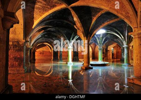 En citerne la forteresse portugaise d'El Jadida, Maroc Banque D'Images