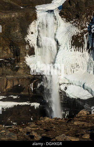 Haifoss cascade, Heklagebiet, Région du Sud, Islande Banque D'Images