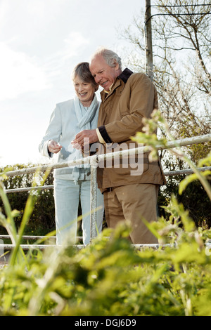 Mari et femme de passer du temps ensemble Banque D'Images