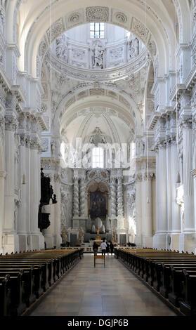 Theatinerkirche Theatine Church, Munich, Bavière Banque D'Images
