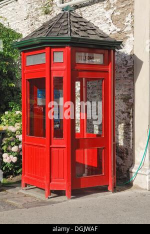 Phone Booth Street, Buckingham, ville minière d'or historique de Arrowtown, île du Sud, Nouvelle-Zélande