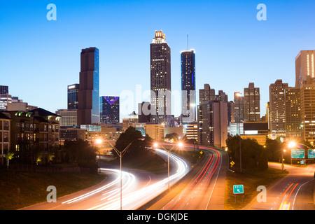 Nuit à Atlanta Banque D'Images