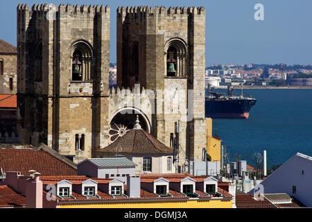Cathédrale Patriarcale de Saint Marie Majeure, Santa Maria Maior de Lisboa ou sé de Lisboa, Lisbonne, Portugal, Banque D'Images