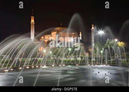 Sainte-sophie, la mosquée Sainte-Sophie, Istanbul, Turquie Banque D'Images