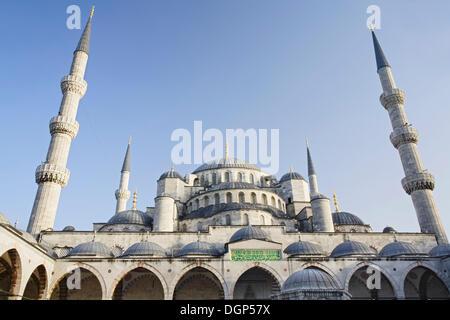 La mosquée bleue, la mosquée de Sultan Ahmet, Istanbul, Turquie Banque D'Images