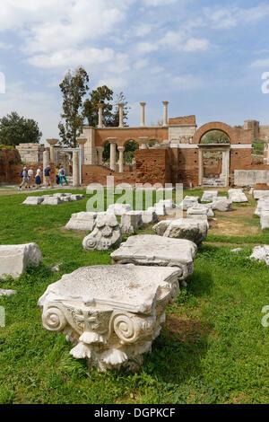 Basilique de St Jean d'Éphèse, Éphèse, Selçuk, İzmir Province, Région de l'Egée, la Turquie Banque D'Images