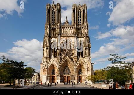 Cathédrale Notre-Dame, Reims, Via Francigena, département de la Marne, Champagne-Ardenne, France, Europe