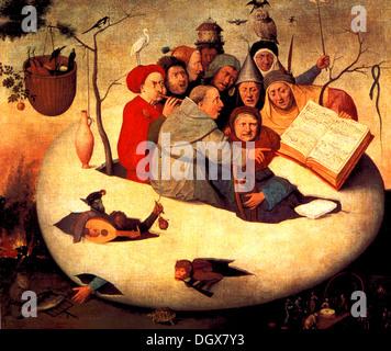 Le concert dans l'oeuf - de Jérôme Bosch, 1480 Banque D'Images