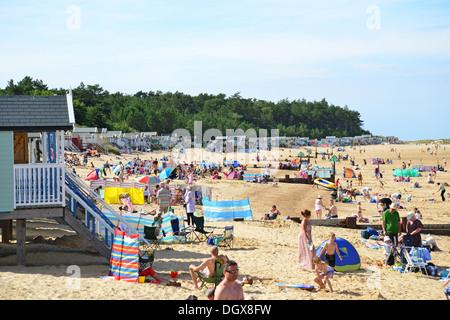 Wells-next-the-Sea Beach, Wells-next-the-Sea, Norfolk, Angleterre, Royaume-Uni