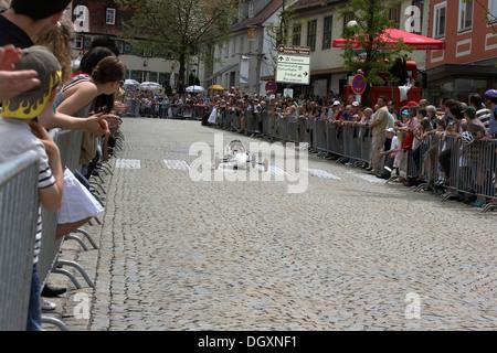 Voiture de course de boîtes à savon, Laupheim, district de Biberach, en Haute Souabe, Bade-Wurtemberg Banque D'Images