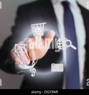 écran tactile Banque D'Images