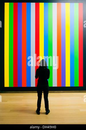 Mur Peinture Dessin #1084 par Sol Lewitt au Stedelijk Museum à Amsterdam aux Pays-Bas Banque D'Images