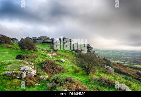 Helman Tor un affleurement de granite escarpée près de Bodmin à Cornwall