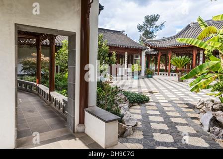 Beau jardin chinois à la bibliothèque Huntington. Banque D'Images