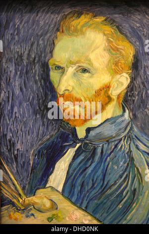 Autoportrait de Van Gogh, National Gallery of Art, Washington D.C., États-Unis Banque D'Images