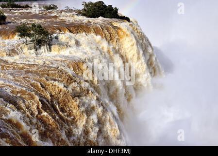 Le Brésil, le Parc National Iguaçu, Parana, chutes d'Iguaçu Iguaçu Falls, chutes d'eau, d'Iguaçu, nature, voyage, Banque D'Images