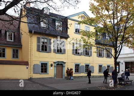 Townhouses à Weimar, en Allemagne Banque D'Images