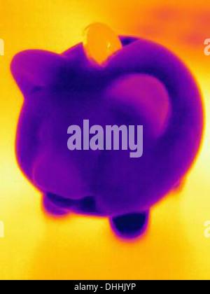 Photographie de thermique tirelire avec monnayeur Banque D'Images