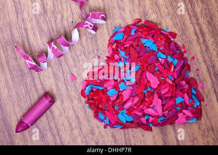 Amour de la couleur Banque D'Images