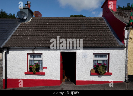 Le 'Dying Man House' de 'The Quiet Man' film, Cong, dans le comté de Mayo, Irlande Banque D'Images