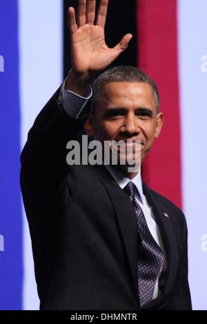 Le président américain Barack Obama lors d'une visite en Israël le 21 mars 2013 Banque D'Images