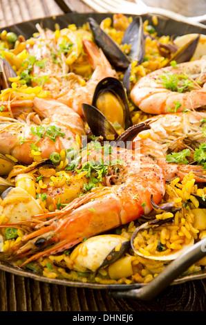 paella de fruits de mer Banque D'Images