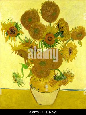 Tournesols - par Vincent van Gogh, 1888 Banque D'Images