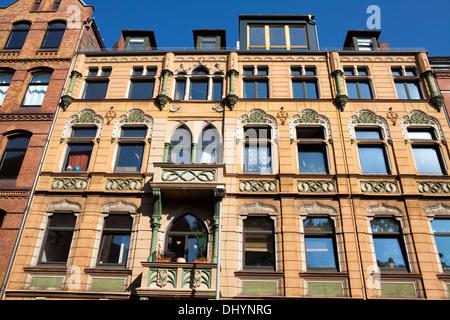 L'architecture historique, Linden, Hanovre, Basse-Saxe, Allemagne, Europe, Banque D'Images
