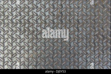 En forme de losange de métal et la texture d'arrière-plan Banque D'Images