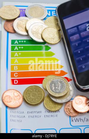 Économiser de l'argent grâce à l'efficacité énergétique concept Banque D'Images