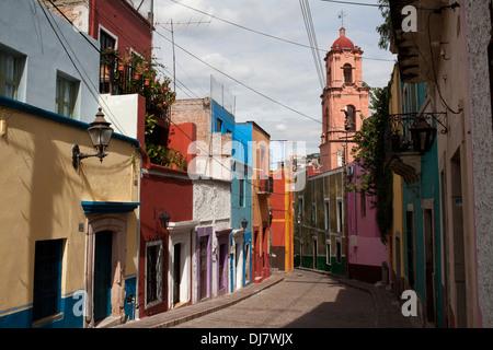 Potrero Street dans la ville de Guanajuato, Mexique. Banque D'Images