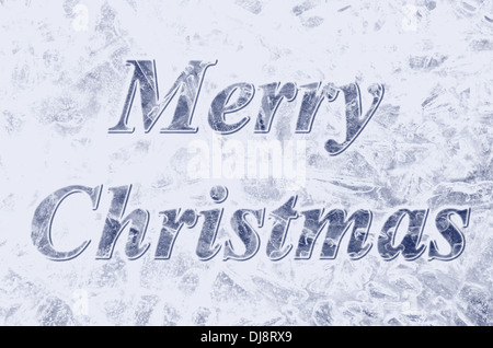 Icy blue Merry Christmas background Banque D'Images