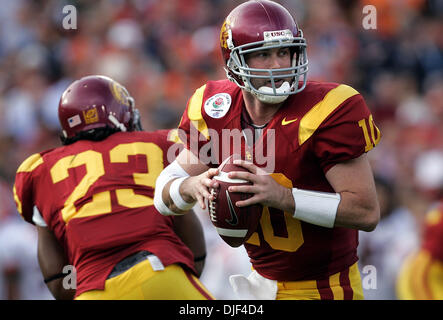 Jan 01, 2008 - Pasadena, Californie, USA - NCAA Football Rose Bowl : USC'S JOHN DAVID BOOTY se jette dans le 2e Banque D'Images