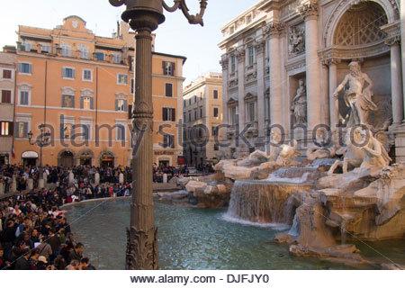 Fontaine de Trevi [Fontana di Trevi], Rome, Italie Banque D'Images