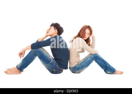 Couple au cours d'un conflit Banque D'Images