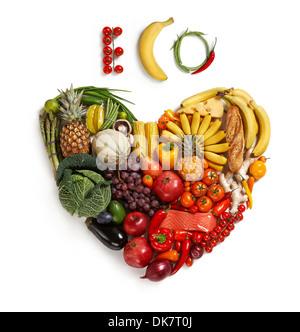 Eco friendly choix alimentaires Banque D'Images