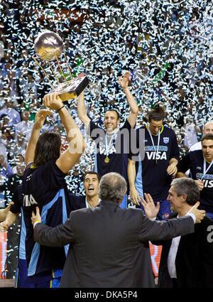 11 septembre 2011 - Mar del Plata, Buenos Aires, Argentine - l'Argentine, MANU GINOBILI, LUIS SCOLA et PABLO PRIGIONI Banque D'Images