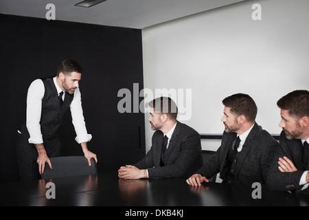 Réunion d'affaires dans plusieurs images, Banque D'Images