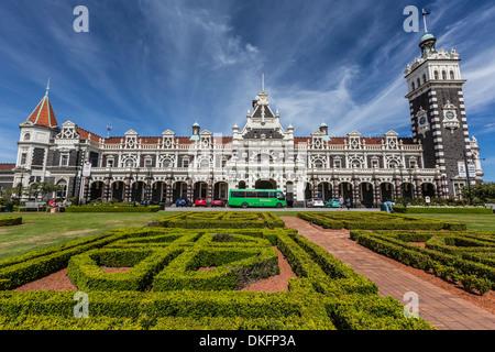 La gare de Dunedin de Dunedin, Otago, île du Sud, Nouvelle-Zélande, Pacifique Banque D'Images