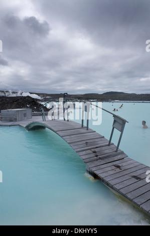 Blue Lagoon Resort, Svartsengi, l'Islande, le nord de l'Europe Banque D'Images