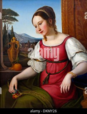 PORTRAIT D'UNE JEUNE FEMME ROMAINE (ANGELINA MAGATTI) (1818) Friedrich Wilhelm von Schadow (1788-1862) Allemagne l'allemand