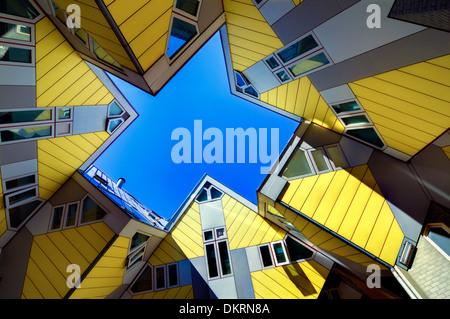 Maison Cube par l'architecte Piet Blom, Rotterdam, Pays-Bas Banque D'Images
